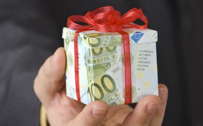 Salaris donatie