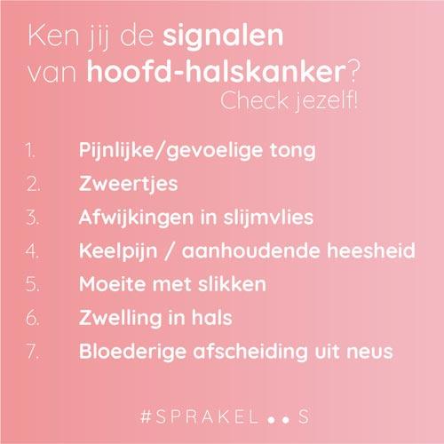 Weet U Symptomen Van Hoofd Halskanker Stichting Nationaal Fonds